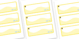 Sunflower Themed Editable Drawer-Peg-Name Labels (Colourful)