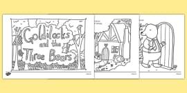 Top 10 Free Printable Goldilocks And The Three Bears Coloring ... | 135x270