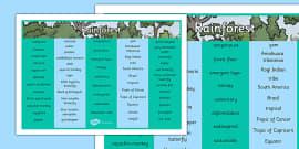 Rainforest Word Mat