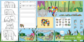 Story Sack Resource Pack to Support Teaching on Elmer