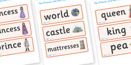 The Princess and the Pea Word Cards