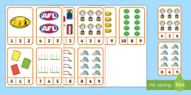 AFL Peg Counting 1-10 Number Cards