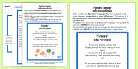 Figurative Language Activity and Reference Sheet Simile