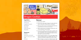 Dragon Cookies Recipe for Chinese New Year