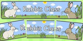 Rabbit Themed Classroom Display Banner