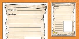 Magic Potion Recipe Writing Frames
