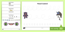 Crazy Creatures Pencil Control Activity Sheets