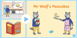 PowerPoint to Support Teaching on Mr Wolf's Pancakes