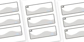 Panda Themed Editable Drawer-Peg-Name Labels (Colourful)