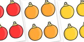Christmas Baubles Editable