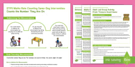 * NEW * EYFS Maths Rote Counting Same-Day Intervention Plan