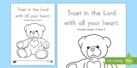 preschool proverbs 35 coloring page english - Psalm 56 3 Coloring Page