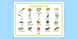 Vegetable Word Mat