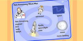 Neil Armstrong Word Mat