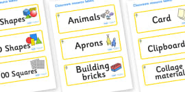 Flower Themed Editable Classroom Resource Labels