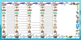 Under the Sea Page Borders
