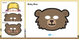 Goldilocks and the Three Bears Story Role-Play Masks