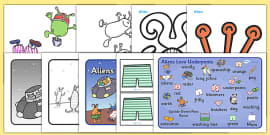Story Sack Resource Pack to Support Teaching on Aliens Love Underpants