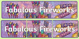 Fabulous Fireworks Display Banner
