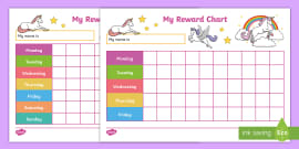 My Sticker Reward Chart - KS1 Resource