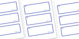 Shark Themed Editable Drawer-Peg-Name Labels (Blank)