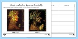 Giuseppe Arcimboldo Obst Und Gemusegesicht Arbeitsblatt 3
