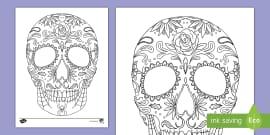 us2 a 1 sugar skull coloring page ver 1
