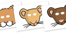 The Town Mouse and the Country Mouse Role Play Masks