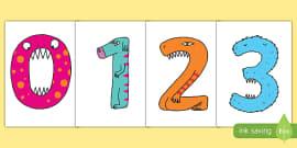 Monster Numbers Display Numbers