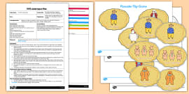 Pancake Flip Game EYFS Adult Input Plan and Resource Pack to Support Teaching on Mr Wolf's Pancakes