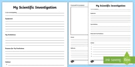 Science Planning Investigation sheets | Teaching Resources  |Experiment Conclusion Ks2