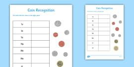 british money counting and sorting worksheet worksheet money money. Black Bedroom Furniture Sets. Home Design Ideas