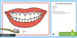 Brushing Your Teeth Sequencing Cards - brush, brushing teeth