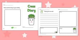 Growing Cress Diary Writing Frame
