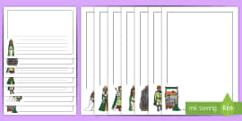 The Princess and the Pea Page Borders