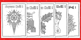 Mindfulness Colouring Christmas Cards French