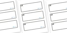 Panda Themed Editable Drawer-Peg-Name Labels (Blank)