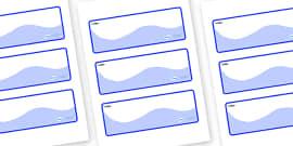 Shark Themed Editable Drawer-Peg-Name Labels (Colourful)