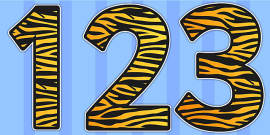 Tiger Print Display Numbers