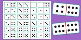 Challenger image in printable dominoes