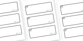 Zebra Themed Editable Drawer-Peg-Name Labels (Blank)