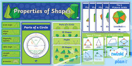 area and circumference of a circle display poster ks3 maths