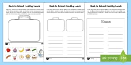 Healthy Lunch Box Differentiated Activity Sheets