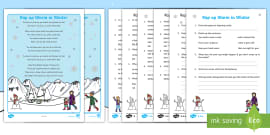 KS1 Rap up Warm in the Winter Poetry Comprehension Differentiated Activity Sheet