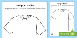 T-Shirt Design Activity Sheet