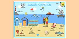 T-T-5703-Seaside-Themed-Scene-Word-Mat_ver_5 X Worksheets Ks on