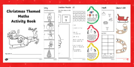 Christmas Themed Maths Activity Book