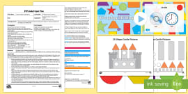 EYFS 2D Shape Castle Creations Adult Input Plan and Resource Pack