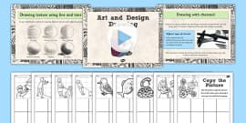 KS2 Art Drawing Techniques Lesson Teaching Pack - teach, packs