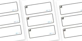 Gorilla Themed Editable Drawer-Peg-Name Labels (Blank)